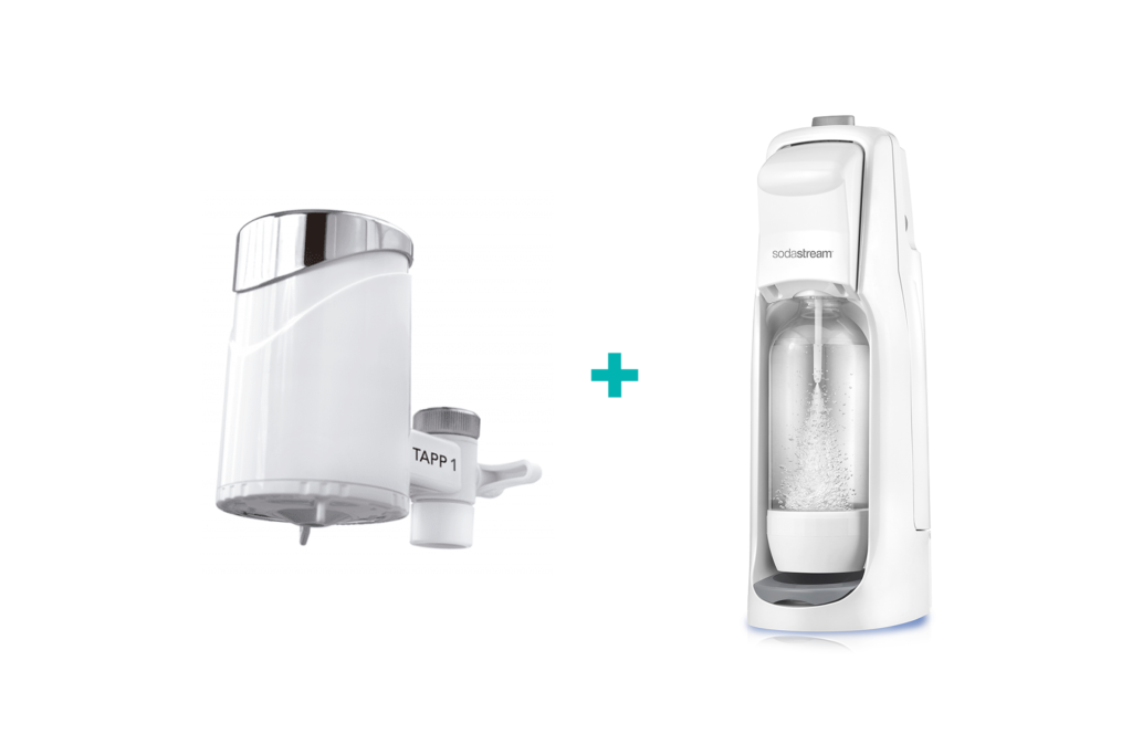 Water filter + Sodastream = healthy, less plastic, save money and increase happiness