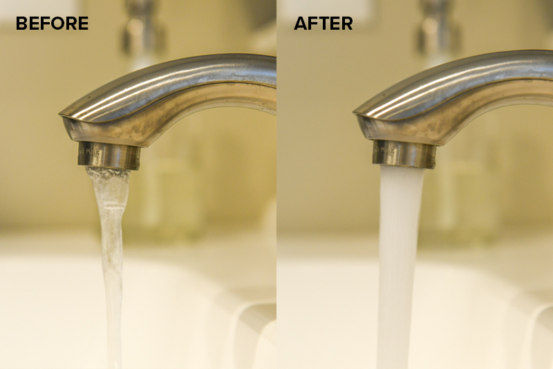 signs that a faucet aerator needs to be changed