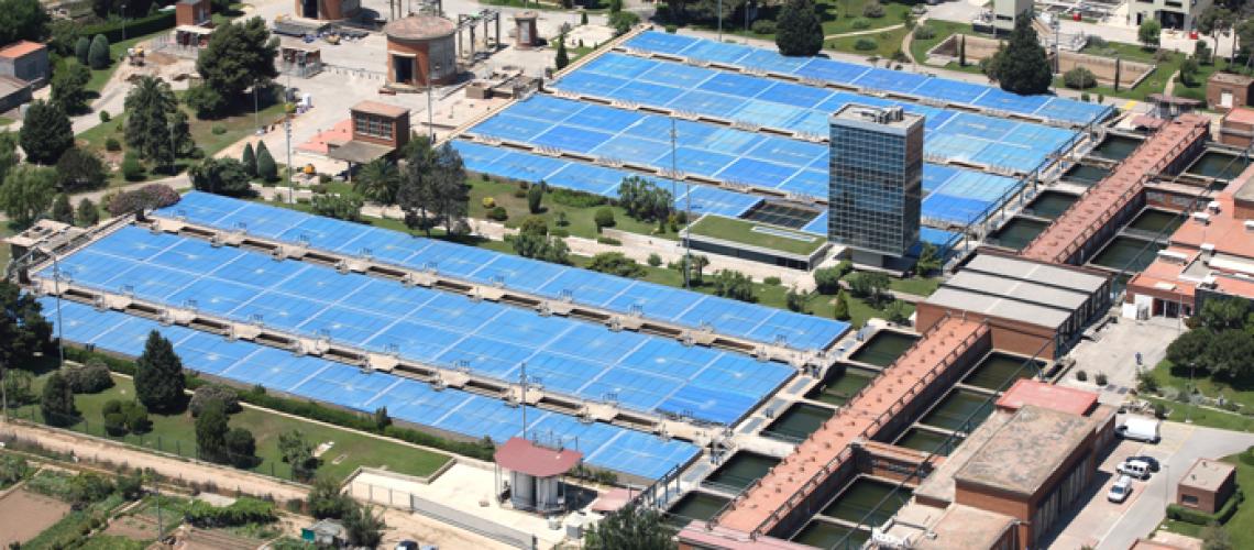 Visiting Aigües de Barcelona water treatment plant