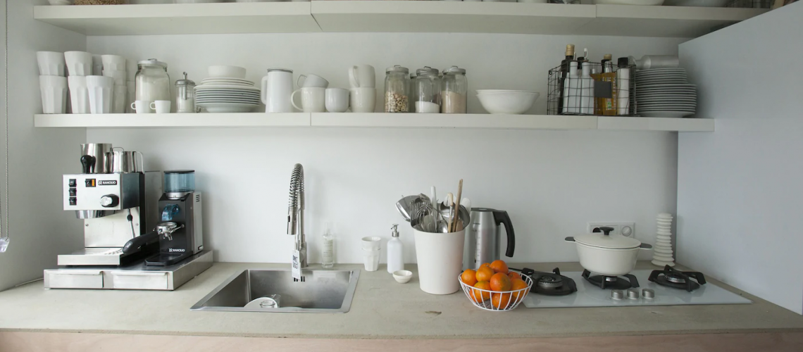 small organised kitchen