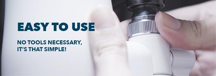 filtro de agua de grifo fácil de instalar