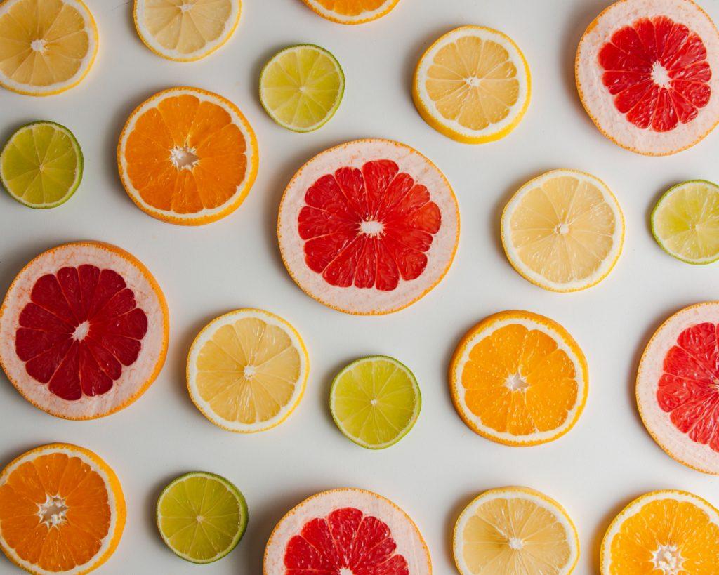 arancia e limone a fette