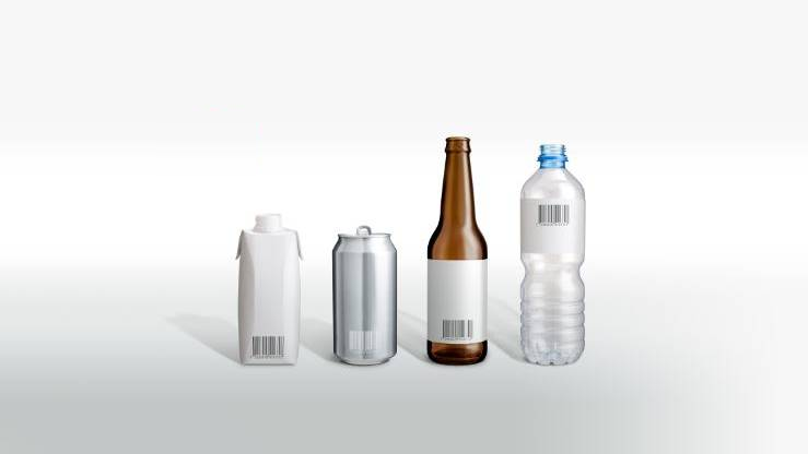 Bottled beverages glass vs plastic vs aluminium vs carton carbon footprint